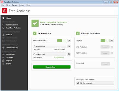 Avira Free Antivirus is Secure