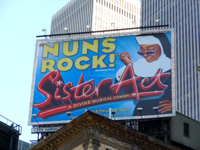Sister Act musical billboard