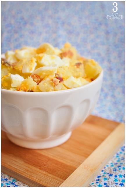 passo a passo salada de ovos com bacon