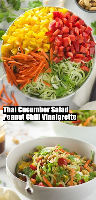 Healthy Recipe, Thai Cucumber Salad with Peanut Chili Vinaigrette