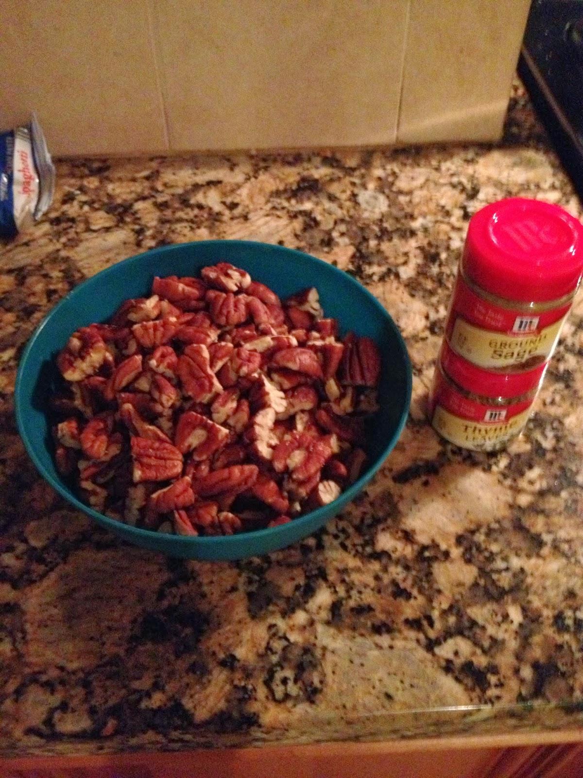 Cornbread Stuffing Ingredients for Thanksgiving Pecans Sage Thyme