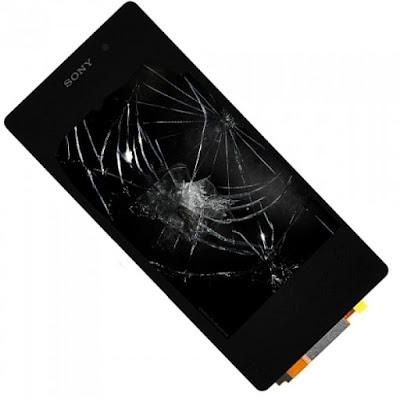 Mặt kính Sony Z4 bị nứt vỡ cần thay mới