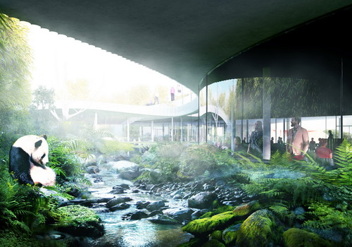 Tinuku.com BIG announced Panda House design implementing Yin and Yang philosophy in circular shape at Copenhagen Zoo