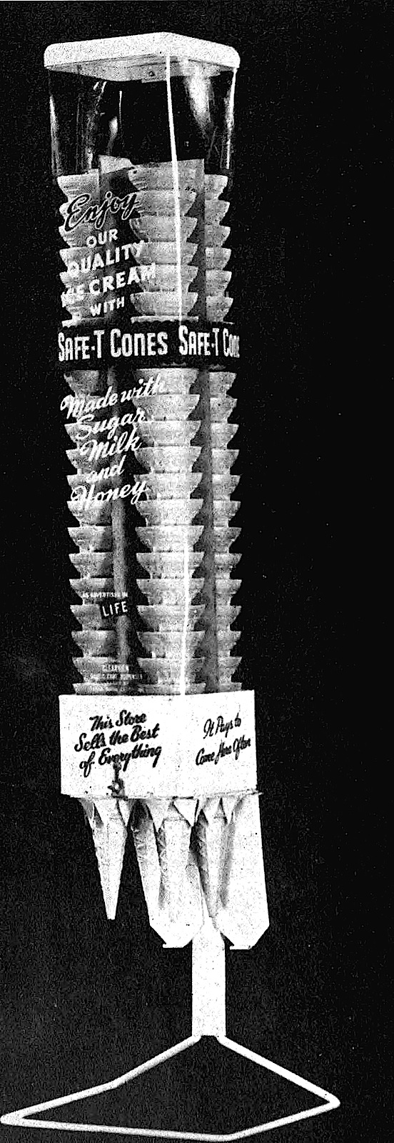 1947 cone dispenser for ice cream store