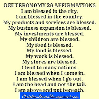 Deuteronomy 28 affirmations