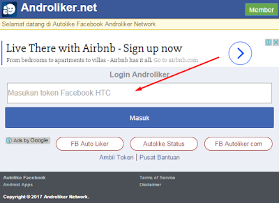 Cara auto like facebook menggunakan situs androliker