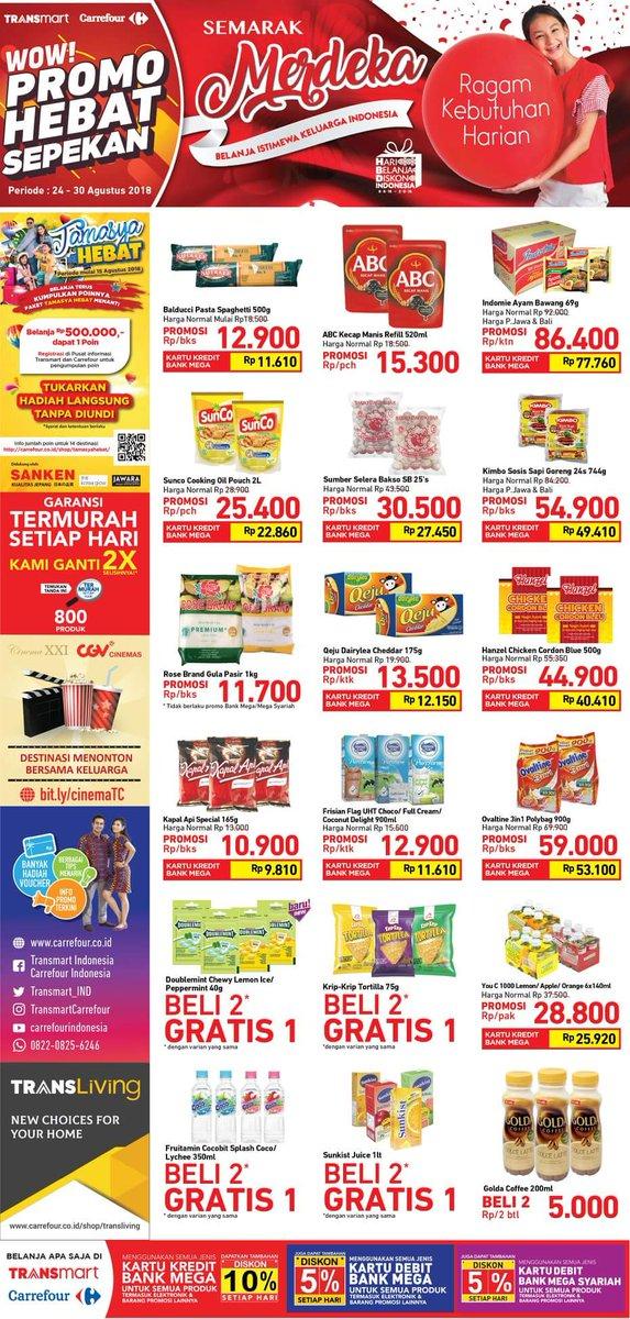 Carrefour - Katalog Promo Hebat Sepekan Periode 24 - 30 Agustus 2018