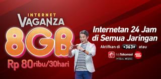 paket internet vaganza 8gb