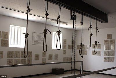 The refurbished gallows at Pretoria Central Prison, which have been out of use since 1989, the year of South Africa's last execution.