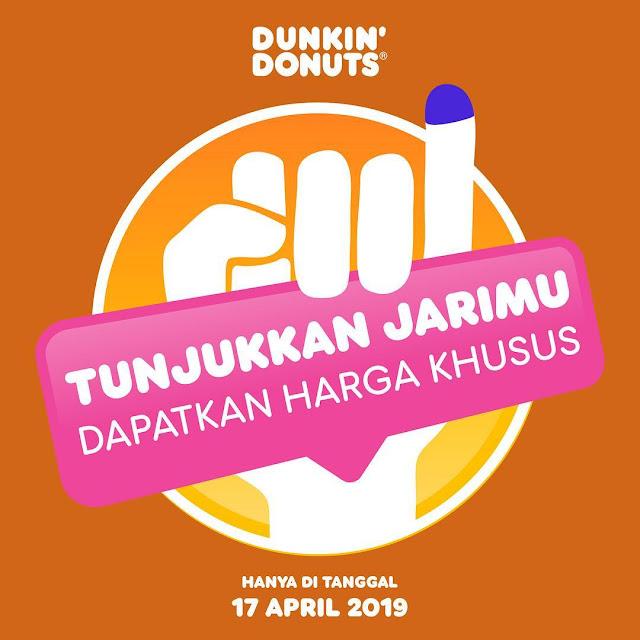 #DunkinDonuts - #Promo Tunjukan Jarimu & Dapatkan Harga Khusus (17 April 2019)