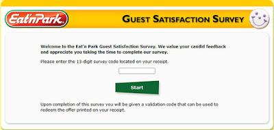 eat n park survey code