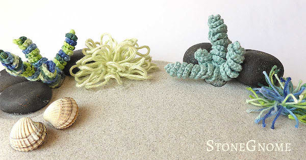 Crocheted Sea Grass and Succulents