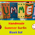 Handmade Summer Surfin Block Set