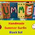 Handmade Summer Surfin Block Set