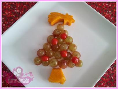 Comida Divertida de Natal Árvore de Natal de uva
