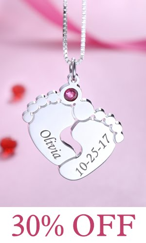 getnamenecklace baby engraved necklace online