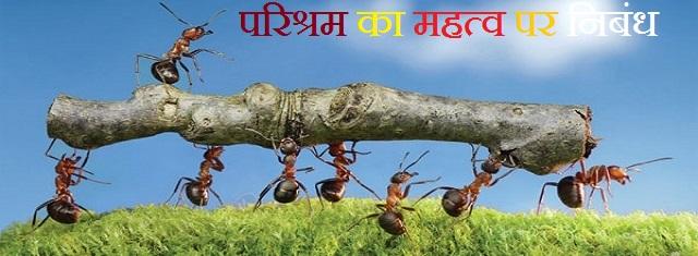 परिश्रम का महत्व पर निबंध-Importance Of Hard Work Essay In Hindi