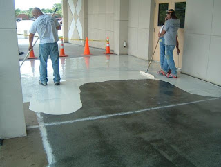 An Epoxy Floor Coating Is A Process Of Surface Preparation Priming And Sealing The End Product High Reliable Resin
