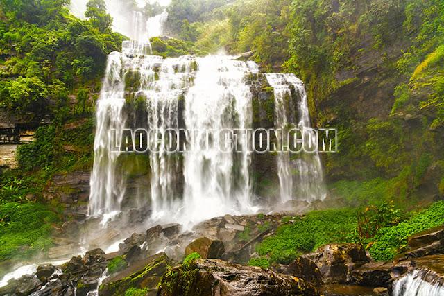 Tat Kameut Waterfall Champassak Laos