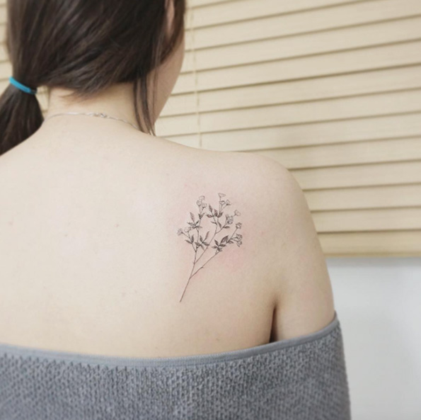 45+ Mẫu Hình Xăm Hoa Cỏ May Đẹp & Tinh Tế Dành Cho Phái Nữ
