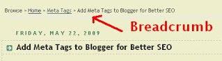 Add Google Breadcrumb for Blogger