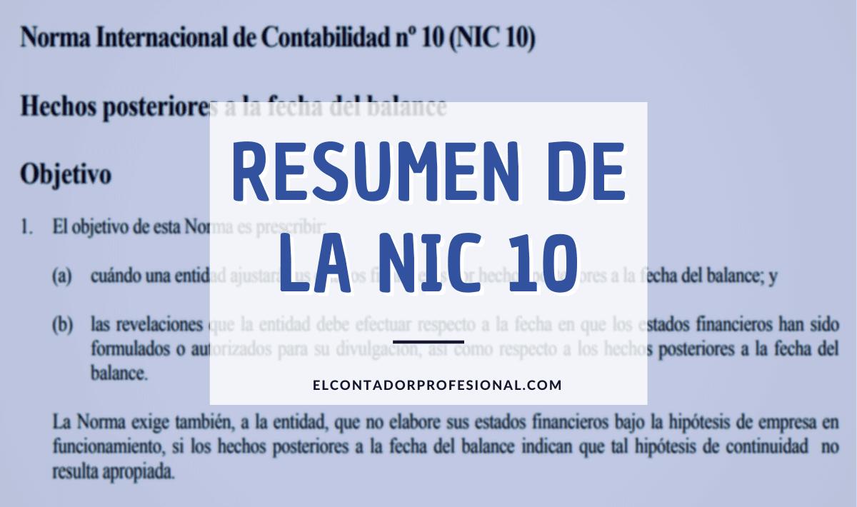 nic 10 resumen
