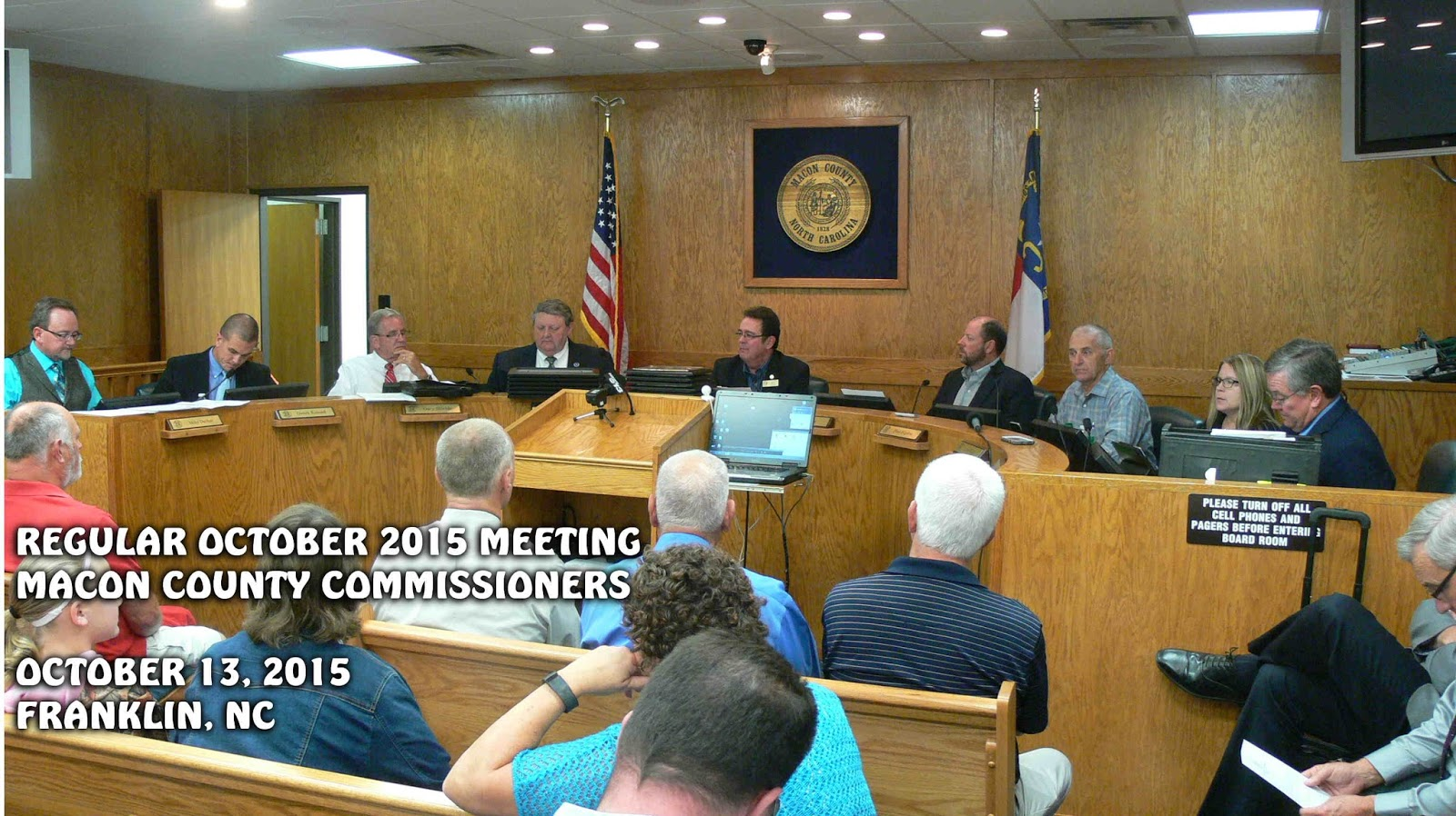 October 2015 meeting of the Macon county Commissioners