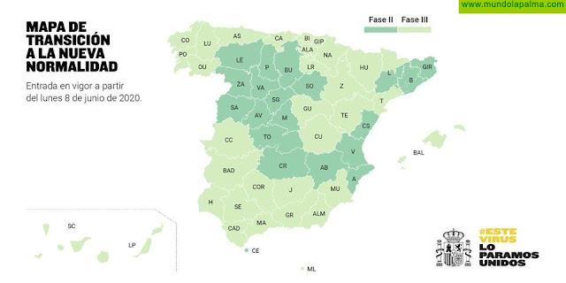 La Palma pasará a fase 3 el próximo lunes 8 de Junio