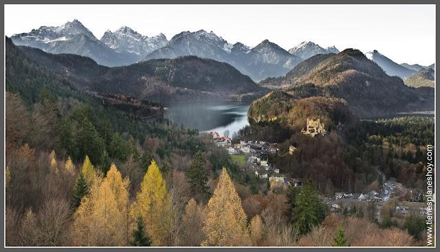 Baviera (Alemania) Alpes y lago Alpsee