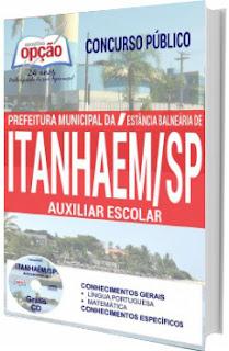 Apostila Prefeitura de Itanhaém 2017 - Auxiliar Escolar