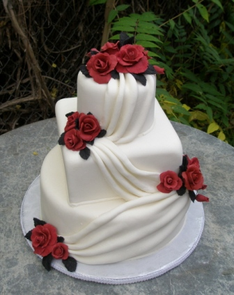 pictures of red and silver wedding cakes amazing black and white wedding cakes 27 pic 18422