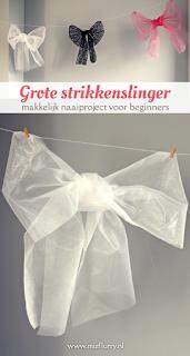Grote strikkenslinger - makkelijk naaiproject voor beginners