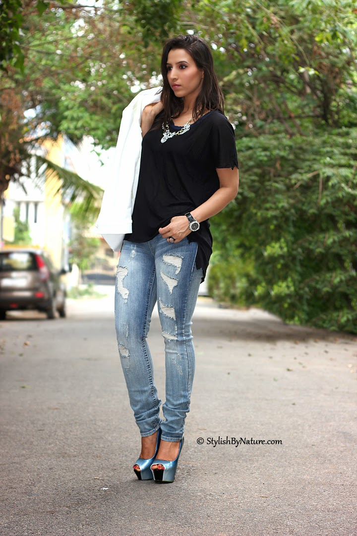 baa3dd1615 Fashion how to wear ripped skinny jeans SS14