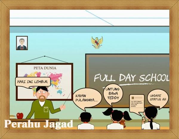 Dampak Full Day School - Guru Stres Muridnya Tambah Stres
