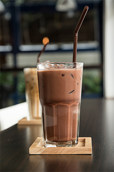Santé Barley Choco Drink-  Whip out your blender and take advantage of this easy-to-make drink as you can never go wrong with its chocolatey goodness, especially this time of the year