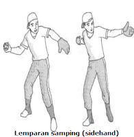 Lemparan samping (sidehand throw)
