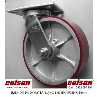 Bánh xe đẩy PU công nghiệp chịu tải cao 1,035kg| 7-10679-959 www.banhxepu.net