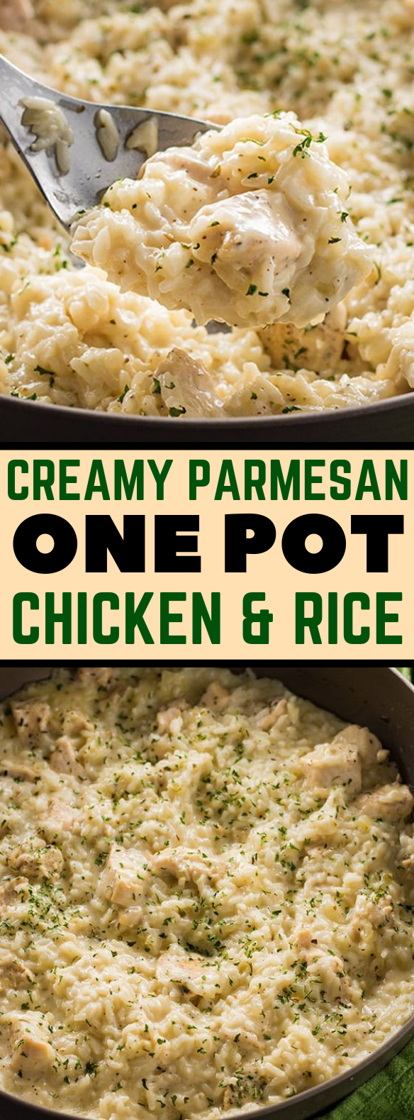 CREAMY PARMESAN ONE POT CHICKEN AND RICE #dinner #easyrecipe