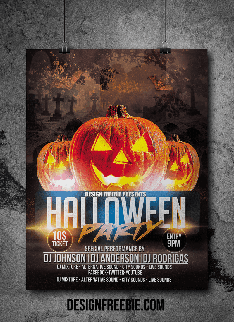 Free Printable halloween flyer Background templates for ...