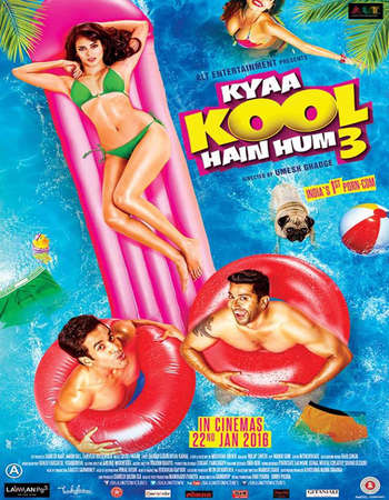 Poster Of Kyaa Kool Hain Hum 3 2016 Hindi 720p DVDRip ESubs Free Download Watch Online