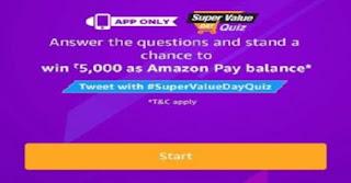Amazon Super Value Day Quiz all Answer