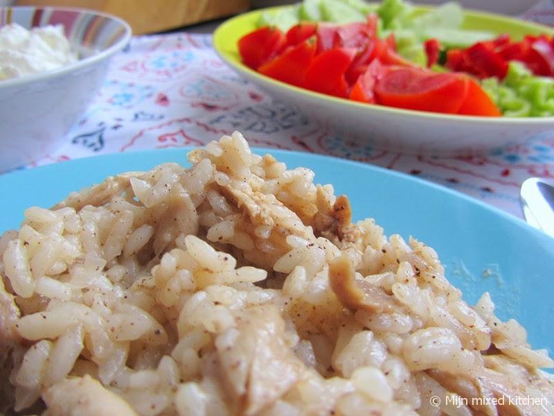 mijn mixed kitchen: tavuklu pilav (turkse rijst met kip)