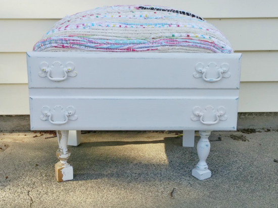 How to Make a Footstool From an Old Drawer!