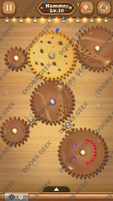 Fix it: Gear Puzzle [Hammer] Level 18 Solution, Cheats, Walkthrough for Android, iPhone, iPad and iPod