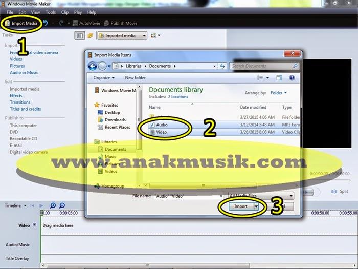 1. Cara Mudah Menggabungkan Lagu dan Video di Movie Maker