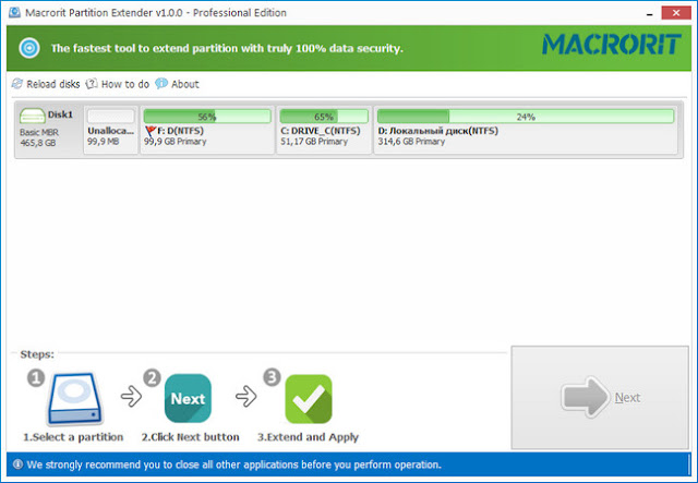 Resize a Partition for Free in Windows 7, 8.x, 10, or Vista