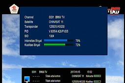 Frekuensi BMW TV Terbaru di Chinasat 11 (Kuband) 98.5°E