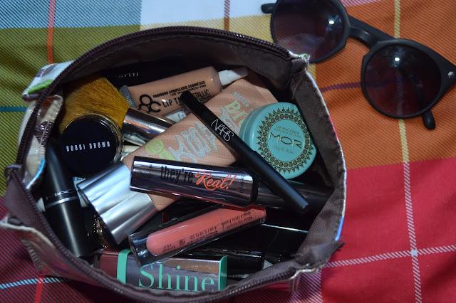 Make up bag containing NARS, MAC, Bobbi Brown, Benefit, Illamasqua, L'oreal, Bourjois