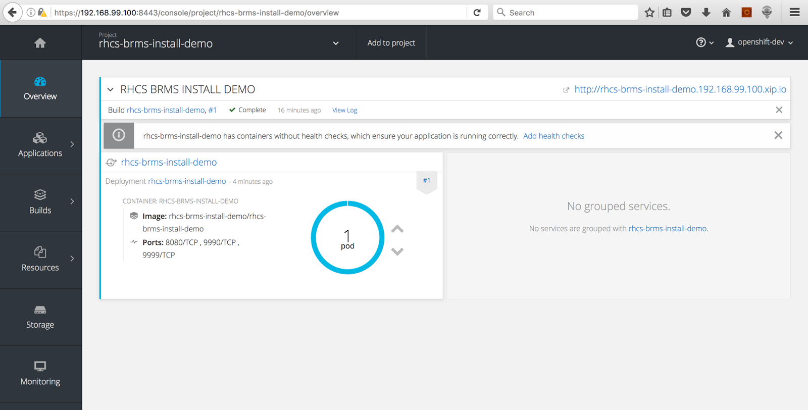 App Dev in the Cloud: How to Run JBoss BRMS in a Container