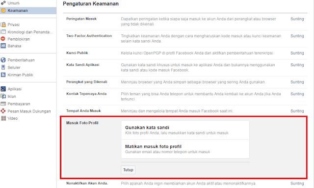 Menghapus Log-in Facebook Menggunakan Foto Profil